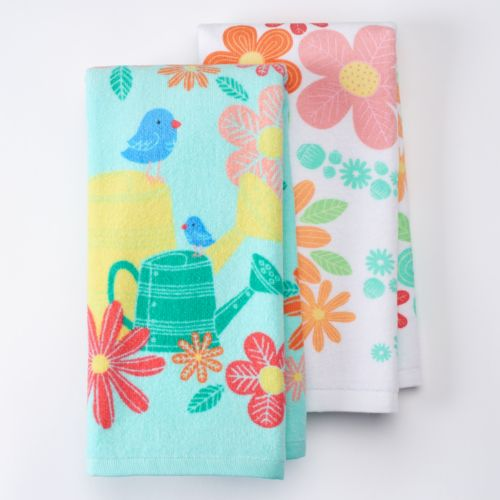 Celebrate Easter Together Watering Can Kitchen Towels - 2 pk.