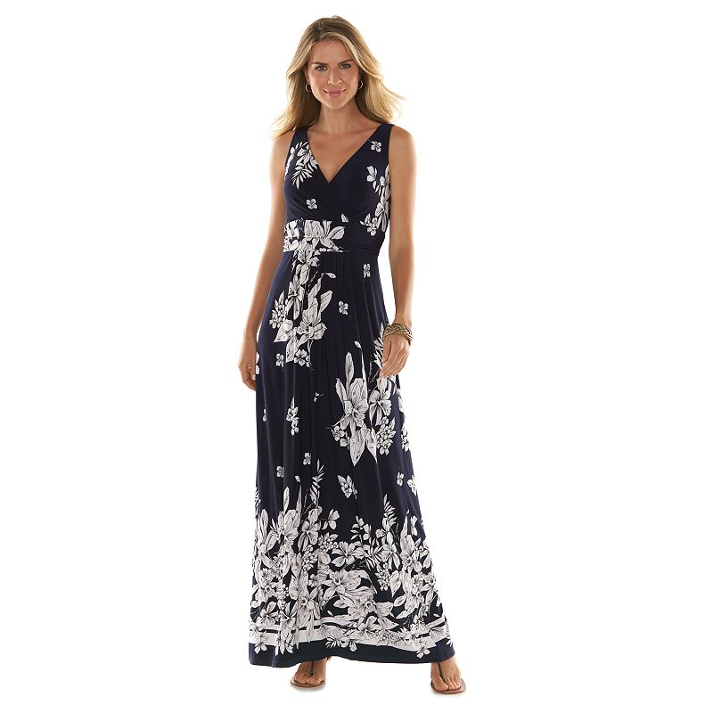 Women's Chaps Floral Maxi Empire Dress