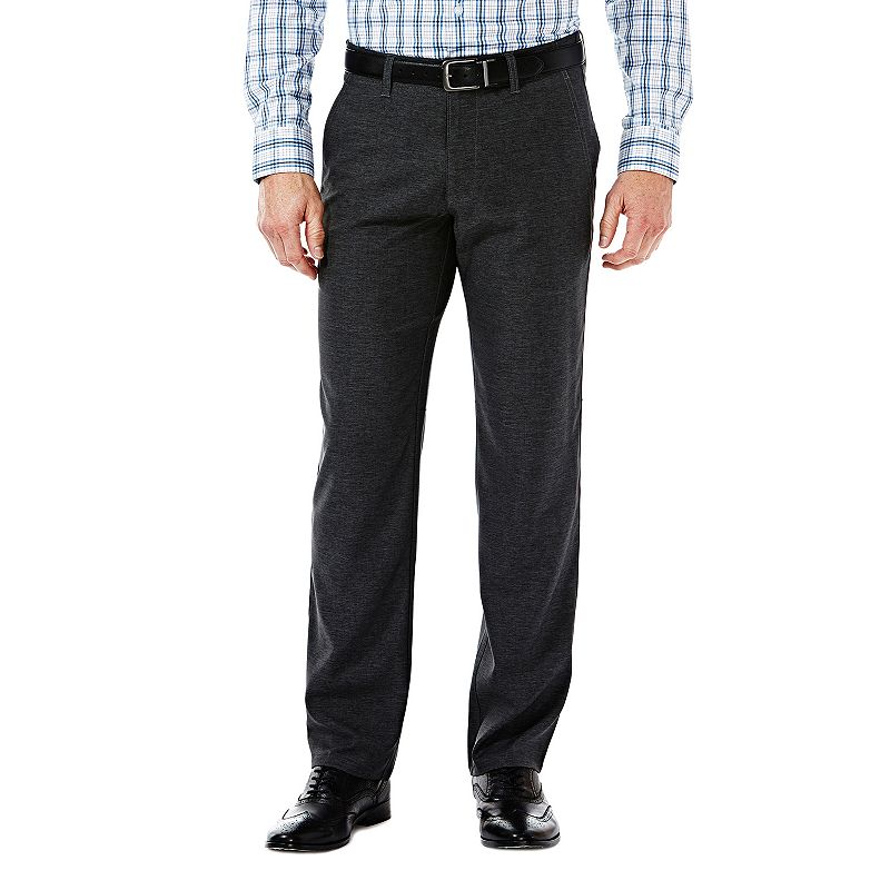 Men's Haggar Melange Slim-Fit Flex-Waist Pants
