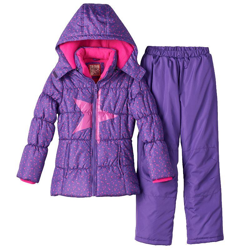 Girls 7-16 Mint Girl Puffer Jacket & Snow Pants Set