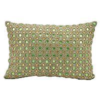 Kathy Ireland Beaded Circles Throw Pillow