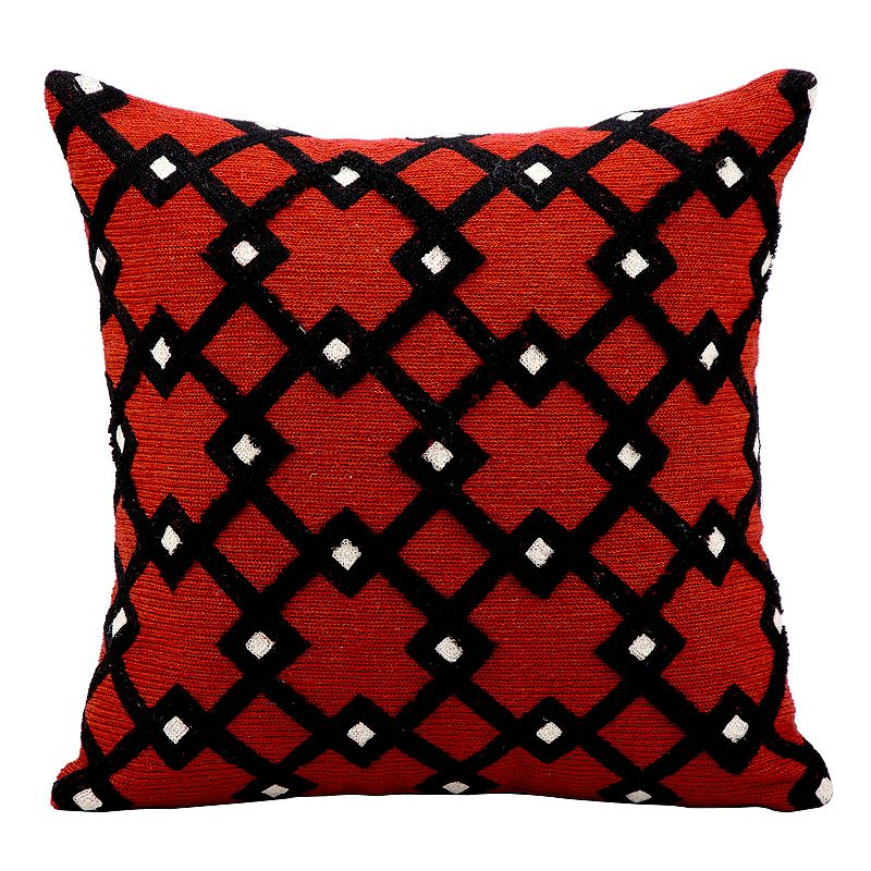 Kathy Ireland Geometric Trellis Throw Pillow DealTrend