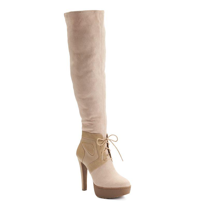 Jennifer Lopez Women's Over-the-Knee Platform Boots