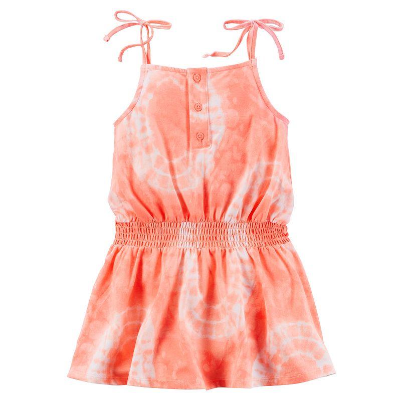 Toddler Girl Carter's Tie-Dye Smocked-Waist Jersey Dress