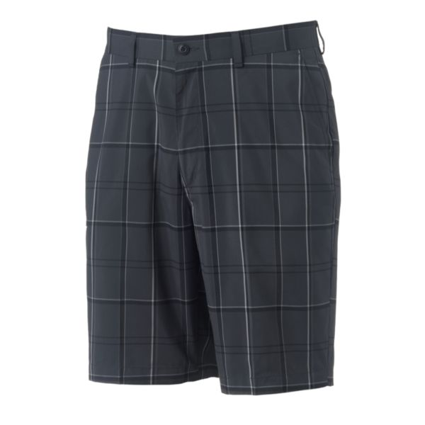 Men's Grand Slam Tonal Plaid Performance Golf Shorts