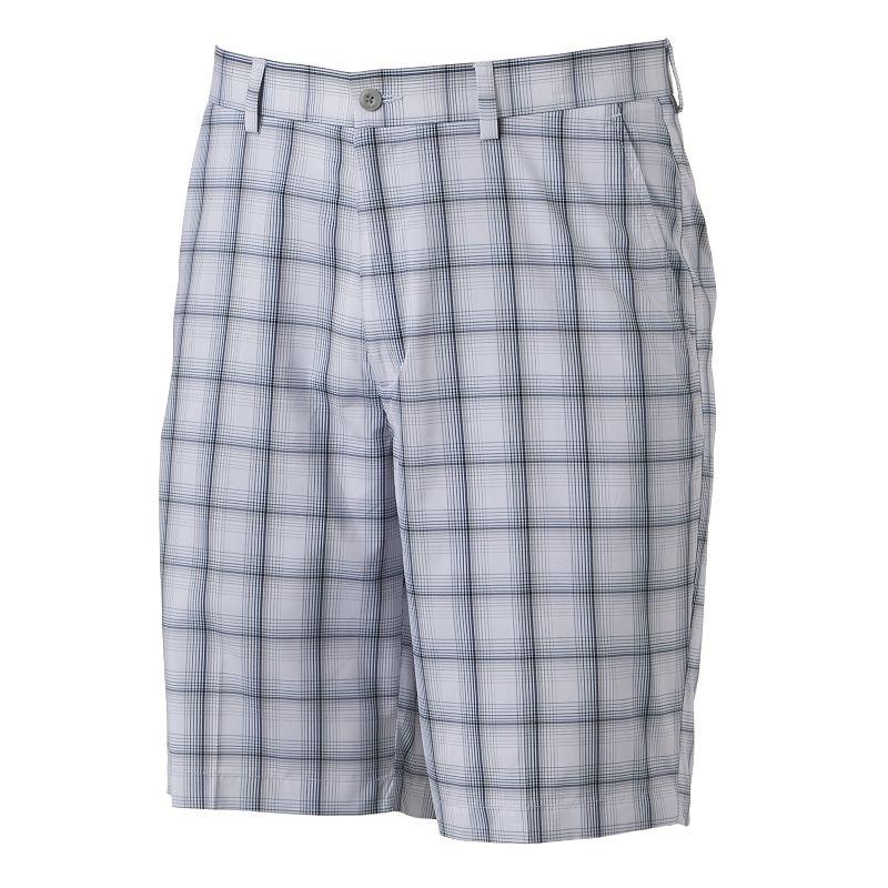 Men's Grand Slam Shadow Plaid Performance Golf Shorts