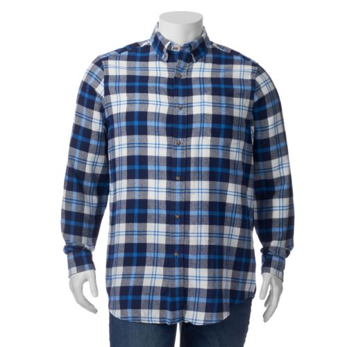 Big & Tall Chaps Chaps Classic-Fit Checked Easy-Care Button-Down Shirt