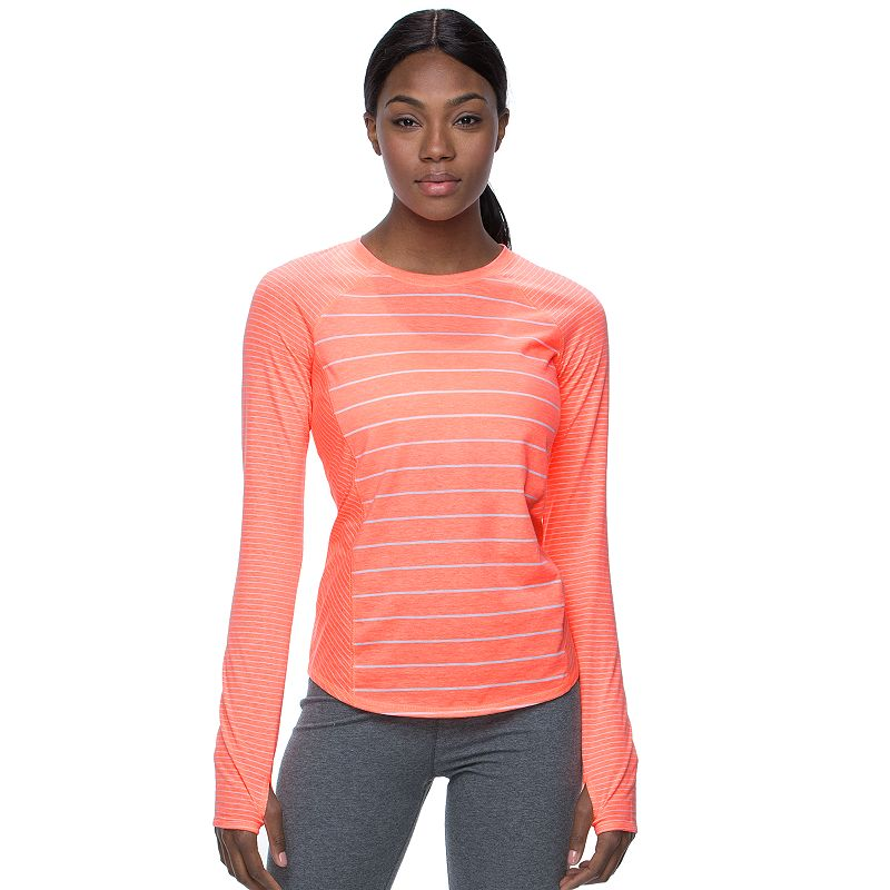 Women's Tek Gear® Mixed Stripes Crewneck Workout Tee