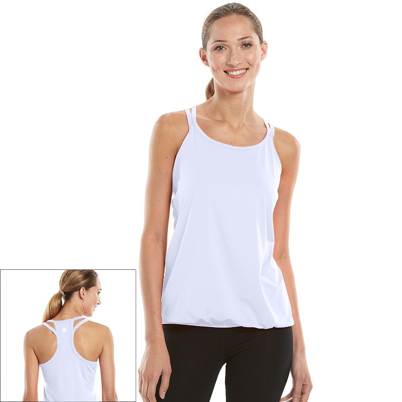 Women's Tek Gear® Banded-Bottom Racerback Workout Tank