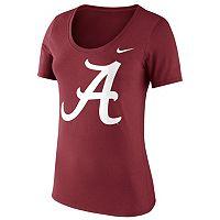 Women's Nike Alabama Crimson Tide Logo Scoopneck Tee