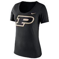 Women's Nike Purdue Boilermakers Logo Scoopneck Tee