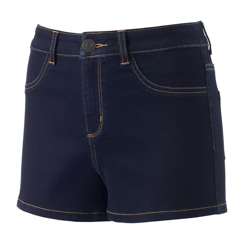 Juniors' SO® High-Waisted Denim Shortie Shorts