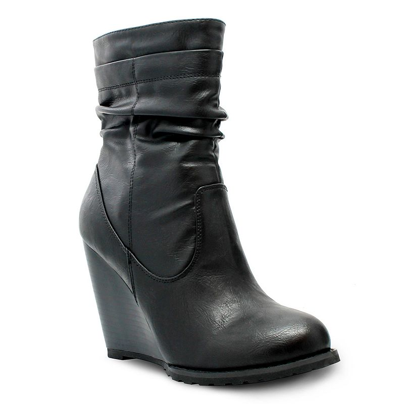 Olivia Miller Hester Women's Slouch Wedge Boots
