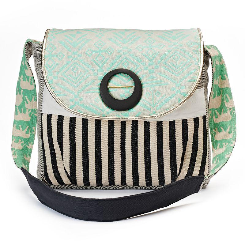 Sage & Harper Geometric Messenger Bag
