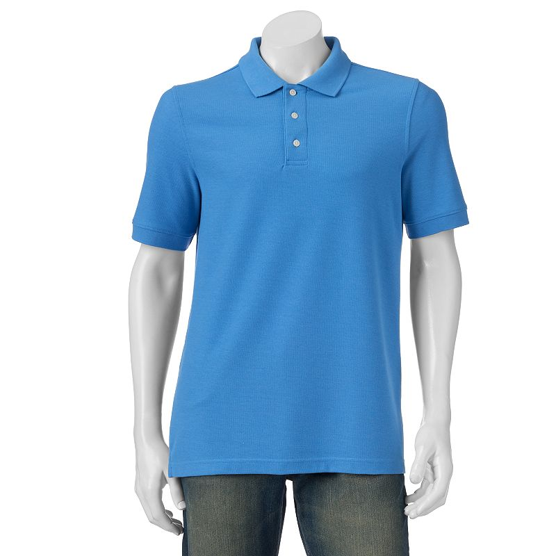 Big & Tall Croft & Barrow® Solid Easy-Care Pique Polo
