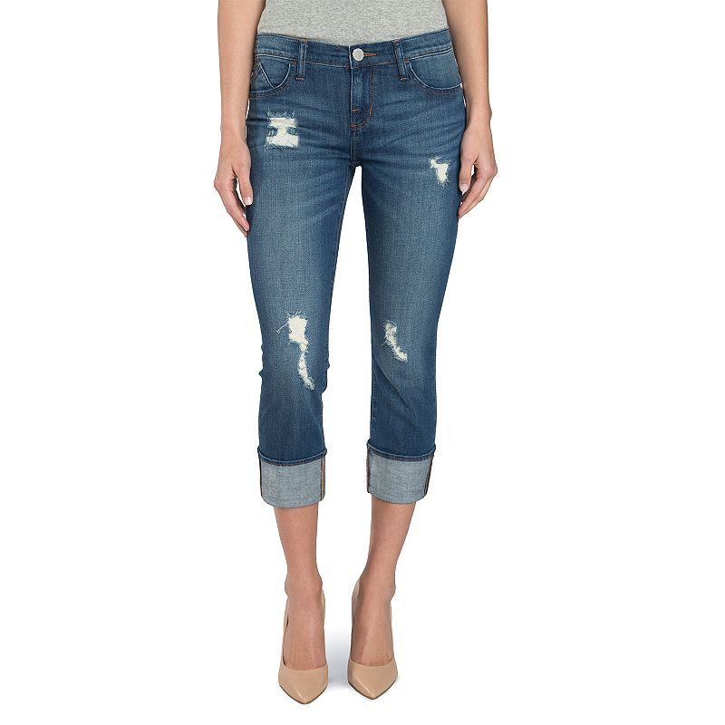 Women's Rock & Republic® Kendall Ripped Capri Jeans
