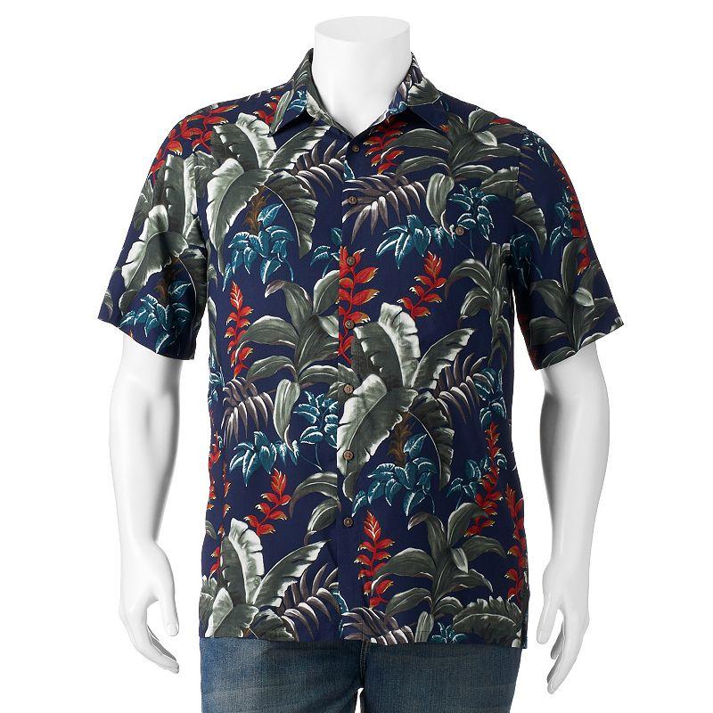 Big & Tall Batik Bay Tropical Casual Button-Down Shirt