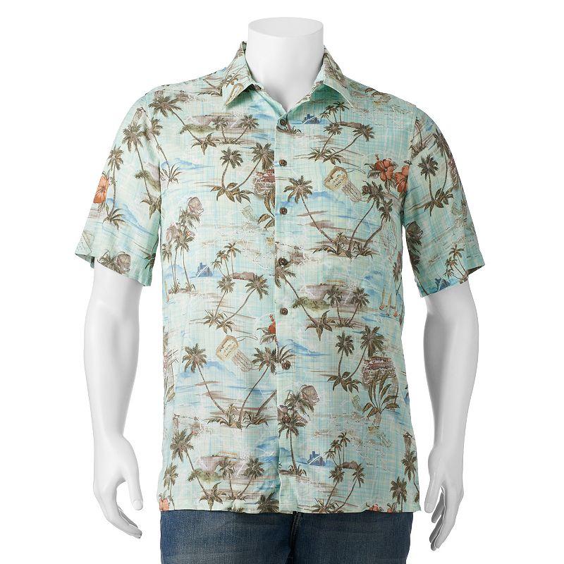 Short sleeve tropical shirt kohl 39 s for Men s batik bay silk blend button down shirt