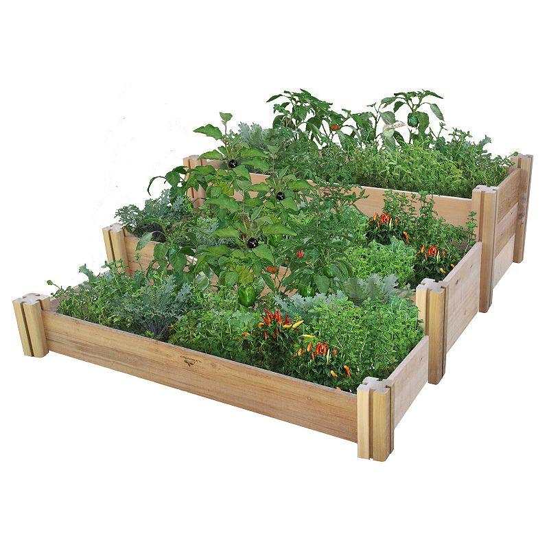 Gronomics Multi-Level Rustic Raised Garden Bed