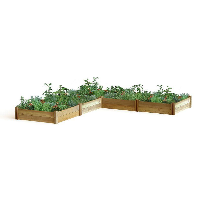 Gronomics L-Shaped Modular Raised Garden Bed