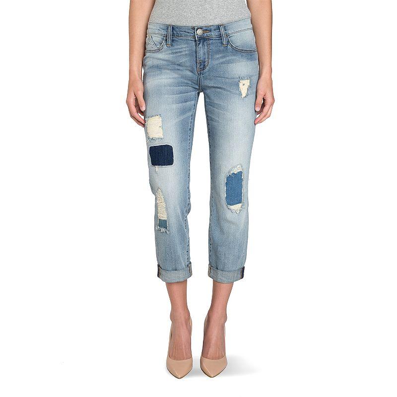 Women's Rock & Republic® Indee Patch Slim-Fit Boyfriend Jeans