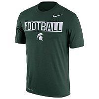Men's Nike Michigan State Spartans Dri-FIT Football Tee