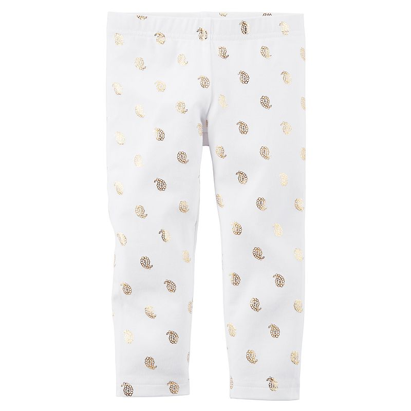 Toddler Girl Carter's Foil Paisley Printed Capri Leggings