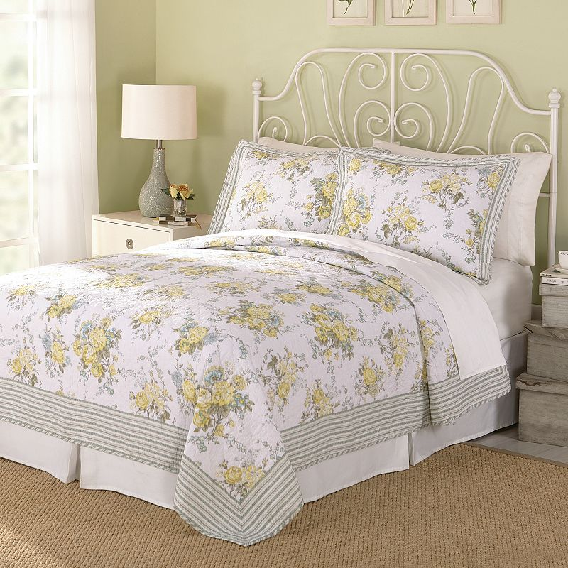 Modern Heirloom Spring Garden 3-pc. Quilt Set