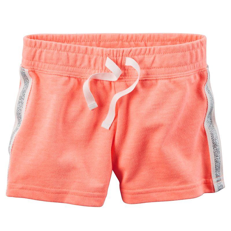 Toddler Girl Carter's Glitter Stripe Knit Shorts