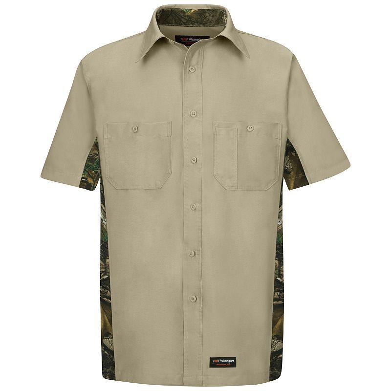Men's Wrangler Workwear Short-Sleeve Camo Work Shirt