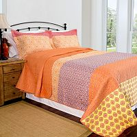 Pegasus Home Fashions Escapade Home ID Collection Contemporary Quilt Set