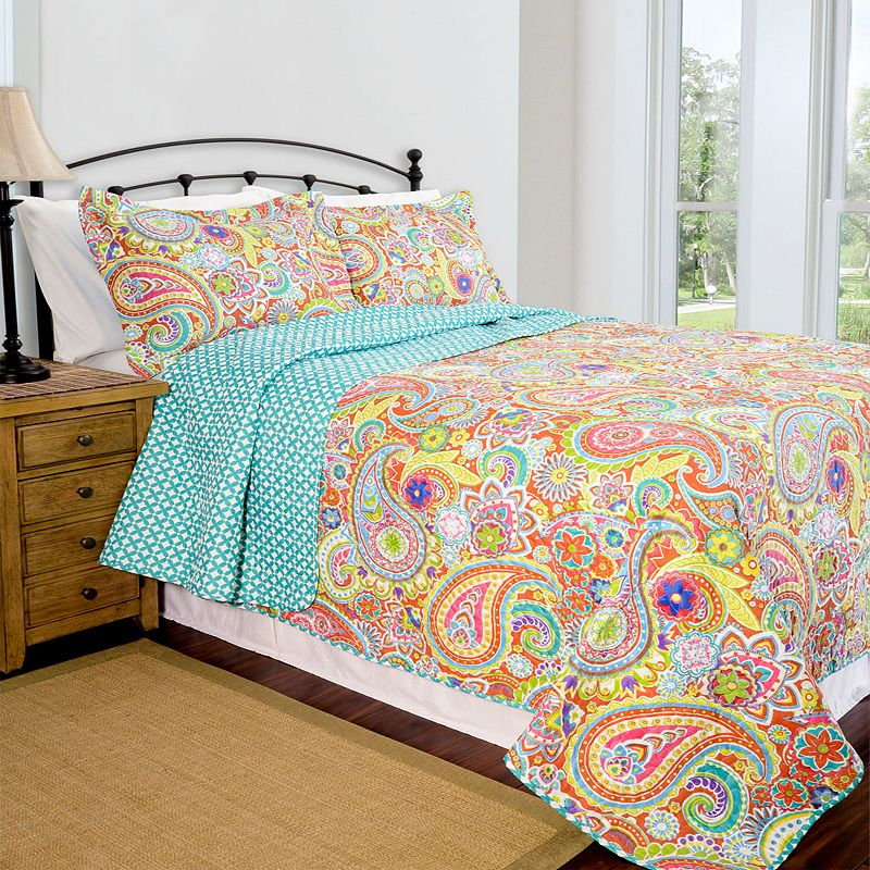 Pegasus Home Fashions Lauren Home ID Collection Contemporary Quilt Set