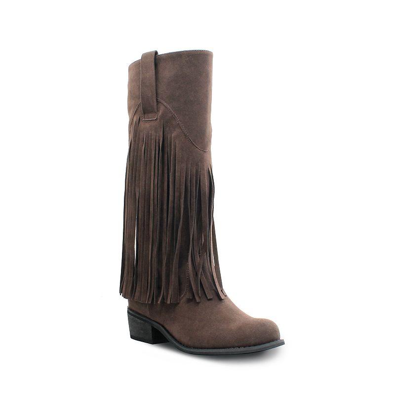 Olivia Miller Liberty Women's Fringe Riding Boots