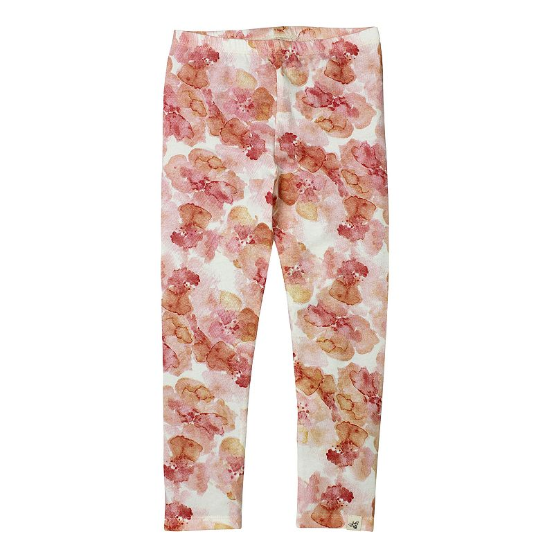 Toddler Girl Burt's Bees Baby Organic Floral Leggings