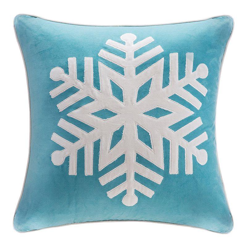 Christmas Throw Pillows From Kohls : Madison Park Velvet Snowflake Throw Pillow