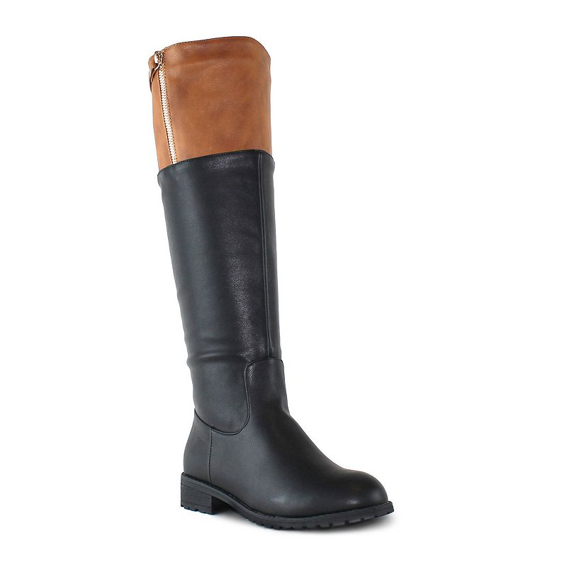 Olivia Miller Sutton Women's Knee-High Colorblock Boots