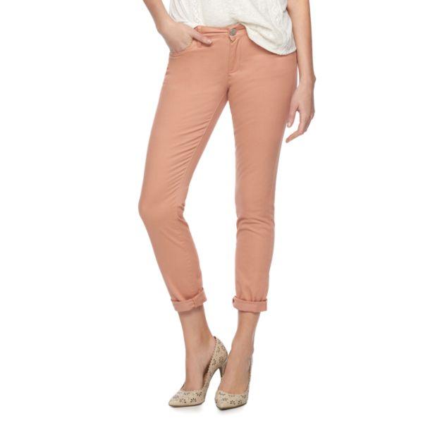 Women's LC Lauren Conrad Twill Roll-Cuff Skinny Cut Pants