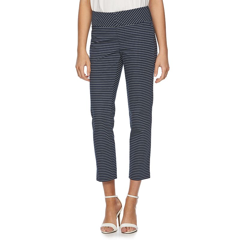 Women's ELLE™ Striped Ankle Pants