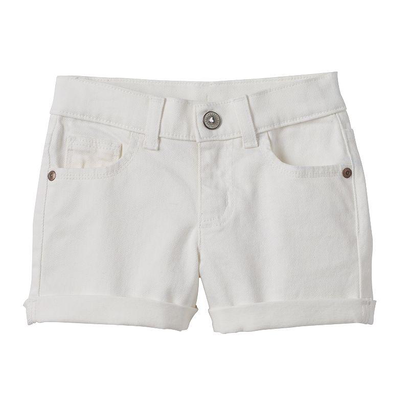 Girls 4-7 SONOMA Goods for Life™ Cuffed White Denim Shorts