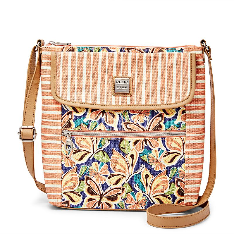 Relic Erica Graphic 3-Zipper Crossbody Bag
