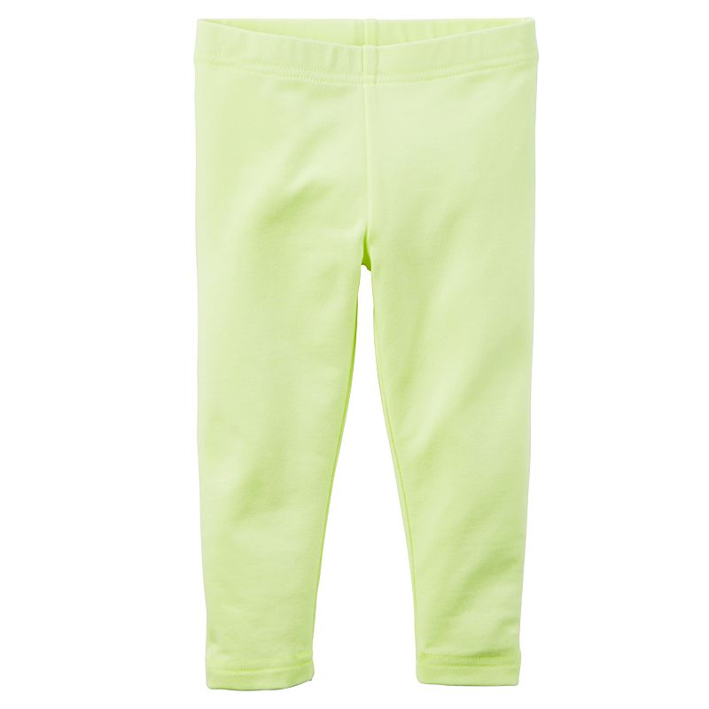 Baby Girl Carter's Solid Capri Leggings