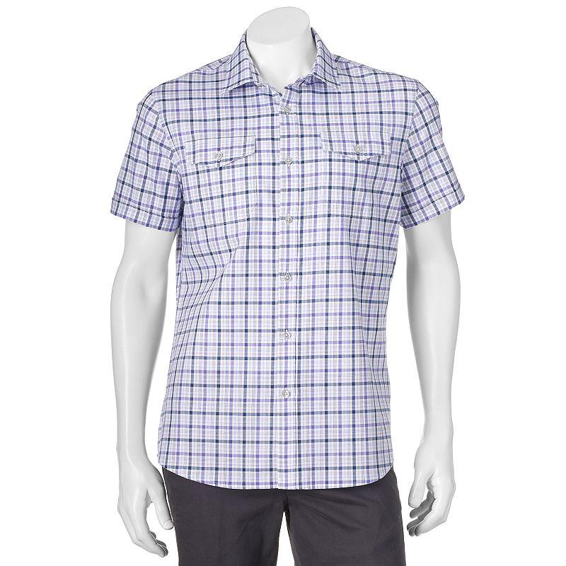 Men's Apt. 9® Modern-Fit Poplin Plaid Button-Down Shirt