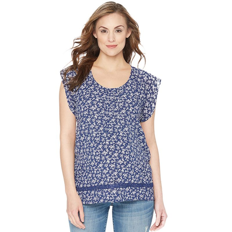Maternity Oh Baby by Motherhood™ Pintuck Top