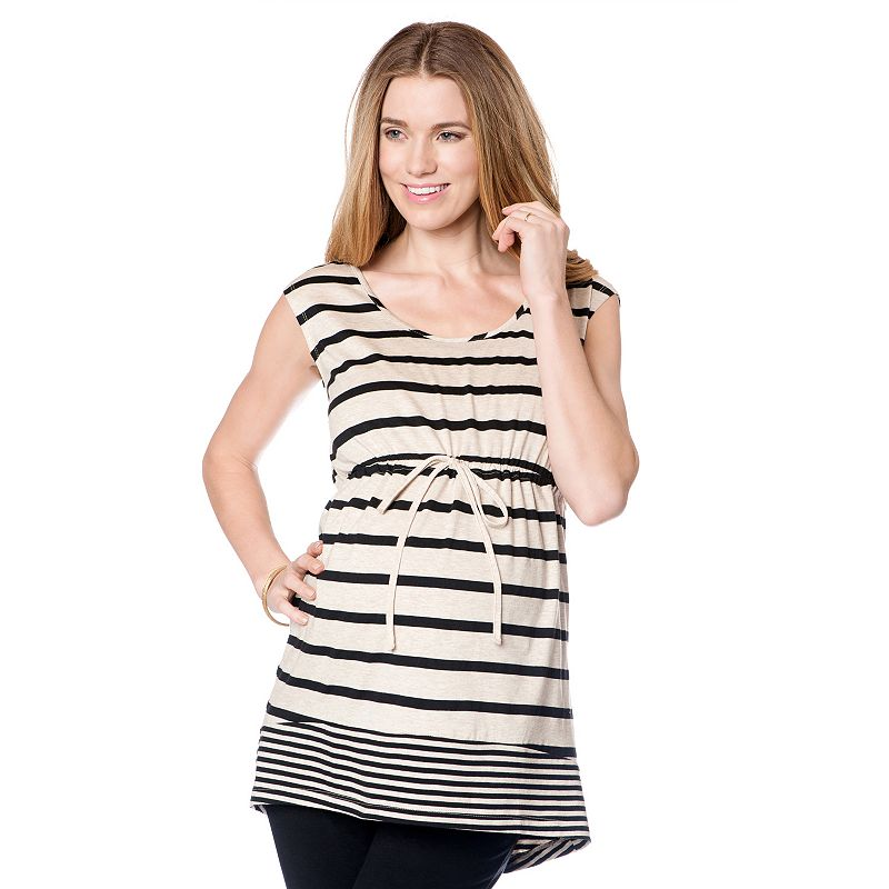 Maternity Oh Baby by Motherhood™ Striped Scoopneck Tunic