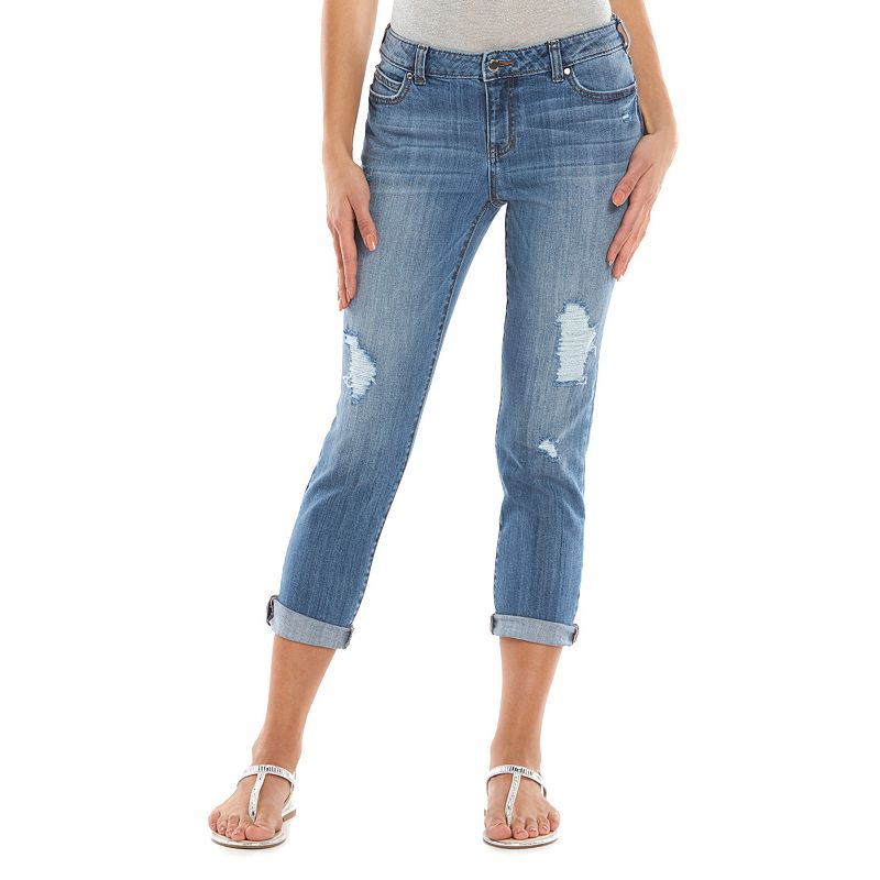 Women's Jennifer Lopez Distressed Boyfriend Jeans