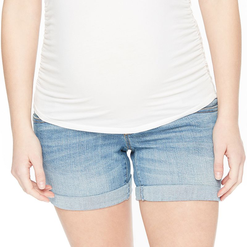 Maternity Oh Baby by Motherhood™ Secret Fit Belly™ Cuffed Jean Shorts