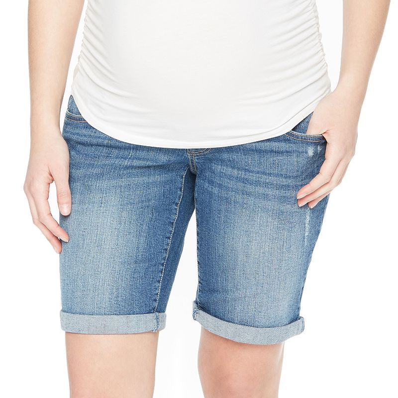 Maternity Oh Baby by Motherhood™ Secret Fit Belly™ Bermuda Jean Shorts