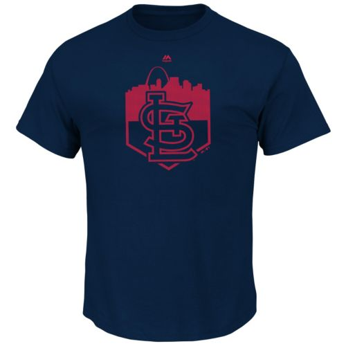 Men's Majestic St. Louis Cardinals Pass Through Tee