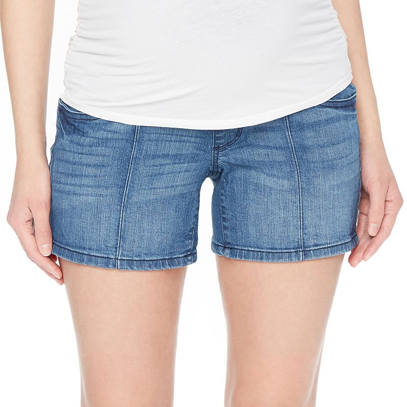 Maternity Oh Baby by Motherhood™ Secret Fit Belly™ Seamed Jean Shorts