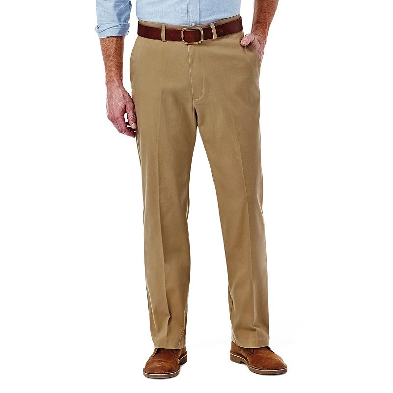 Men's Haggar Expandomatic Stretch Classic-Fit Comfort Compression Waist Twill Pants